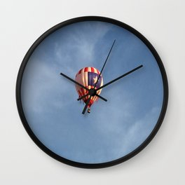 Hot Air Balloon Above the Fruited Plain Wall Clock
