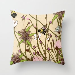 Wild Flowers Part 2 Throw Pillow