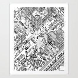 MacPaint project: NYC Art Print