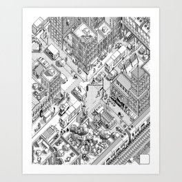MacPaint project: NYC Art Print