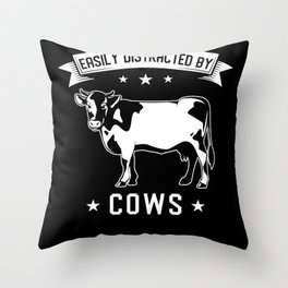 Cow Cows Saying Throw Pillow