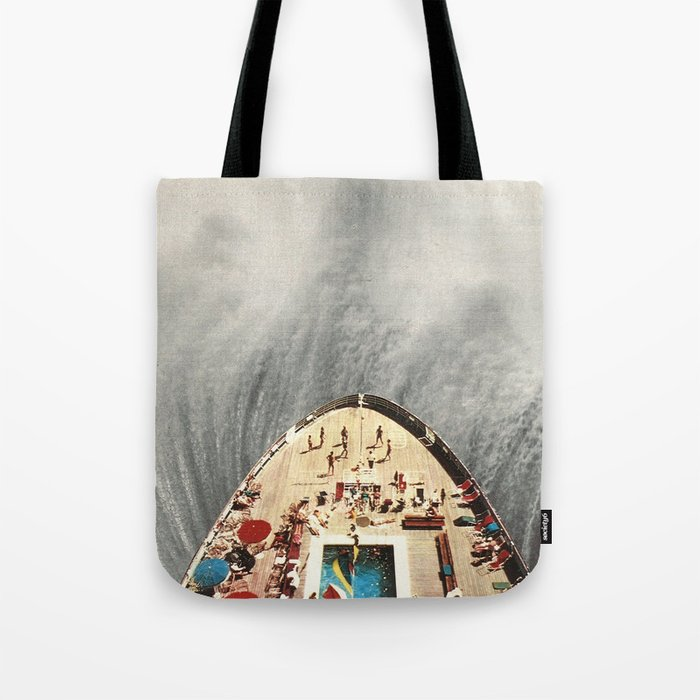 a great big wave (to wash it all away) - collab with sammy slabbinck Tote Bag