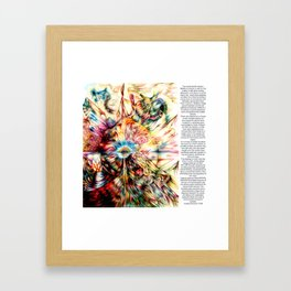 A message to the Mental Health Industry Framed Art Print