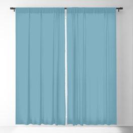 Behr Snowboard (Dark Pastel Blue) S460-4 Solid Color Blackout Curtain