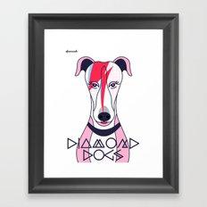 Diamonds Dogs Framed Art Print