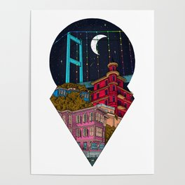 Night carries the lights Poster