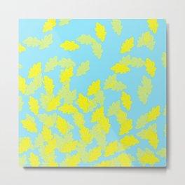 Blue da ba leaf Metal Print
