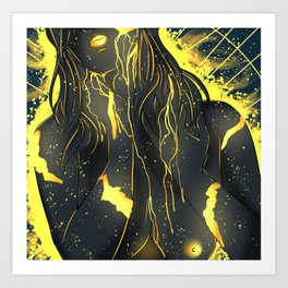 Covered In gold Art Print