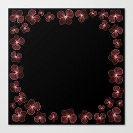 Hydrangea in deep maroon reds... Canvas Print