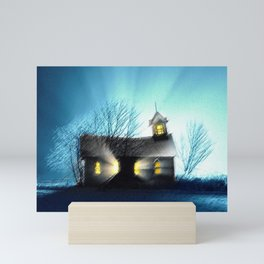 Abandoned Church within the Scituate Reservoir - Scituate, Rhode Island Landscape by Jeanpaul Ferro Mini Art Print
