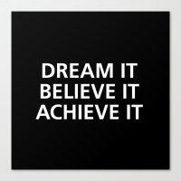 motivational Canvas Prints featuring Motivational by Motivational