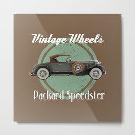 Vintage Wheels - Packard Speedster Metal Print