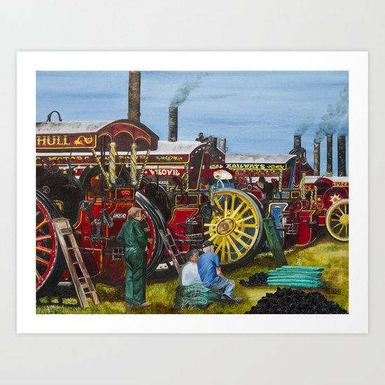 Day at the Steam Up Art Print