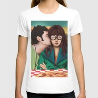 daria T-shirts featuring Daria with Pizza and Friends by Artik