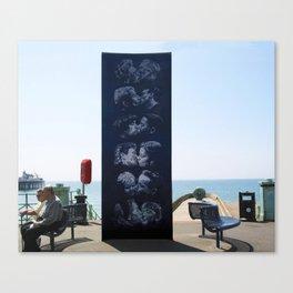 The Kiss Wall, Brighton, UK Canvas Print