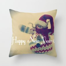 Happy New Year :) Throw Pillow