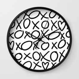X's and O's Wall Clock