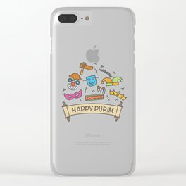 Happy Purim Everybody Clear iPhone Case
