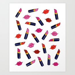 Lips & Lipsticks Art Print