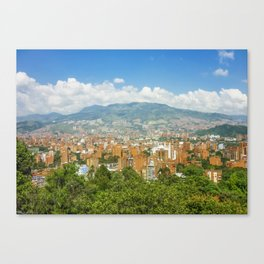 Aerial View of Medellin from Nutibara Hill Canvas Print