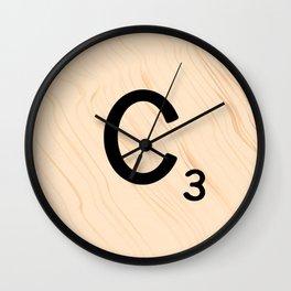 Scrabble Tile C - Large Scrabble Letters Wall Clock