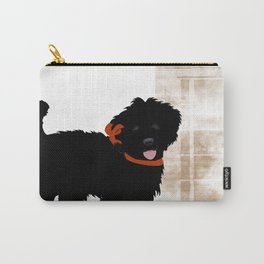 Black Labradoodle dog Carry-All Pouch