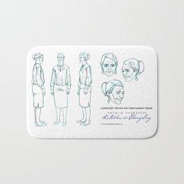 Darshanna Penna Character Design I Bath Mat