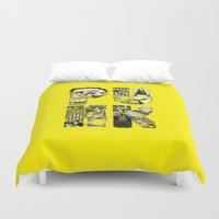 punk Duvet Covers featuring PUNK by René Barth