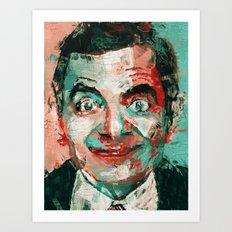 Mr Bean Art Print