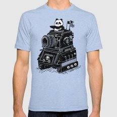 Panda Tri-Blue X-LARGE Mens Fitted Tee
