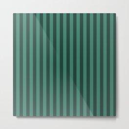 Viridian Green Stripes Pattern Metal Print