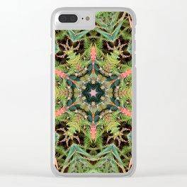 Leaves, Foilage and Fern Mandala Clear iPhone Case