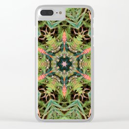Leaves, Foilage and Fern Mandala Clear iPhone Case