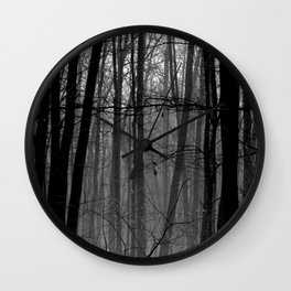 Trees in winter Wall Clock