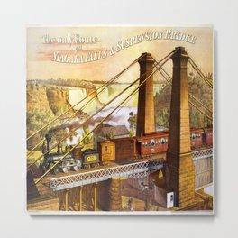 Vintage poster - Niagara Falls Bridge Metal Print