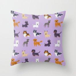 SCOTTISH DOGS Throw Pillow