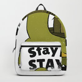 Turtle Stay Home spell Backpack