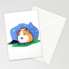 Poop in the Night Stationery Cards