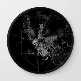El Paso map Wall Clock
