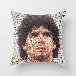Homage to Maradona  Throw Pillow