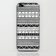 Harry Potter Inspired Tribal Print (Black and White) iPhone & iPod Skin