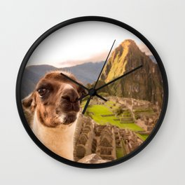 Llama #selfie Wall Clock