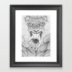 The Giant Winged Lion Framed Art Print