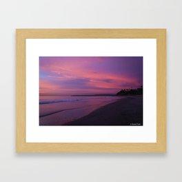Sunset in San Clemente Framed Art Print