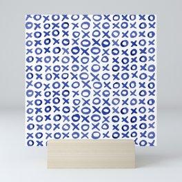 Xoxo valentine's day - blue Mini Art Print