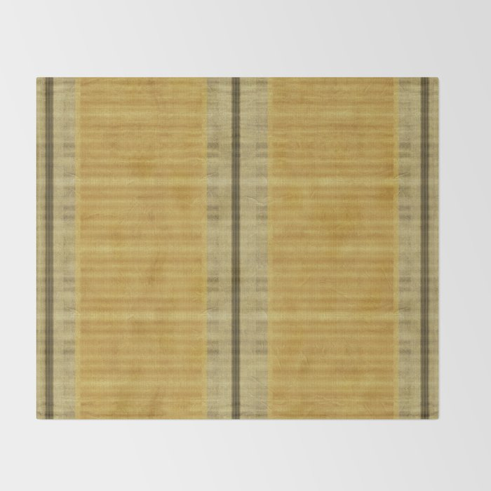 Simple Oriental Curtains Light Yellow Throw Blanket By Marcanton