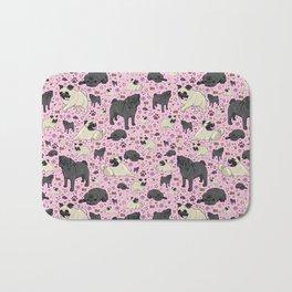 I Love Pugs! Bath Mat