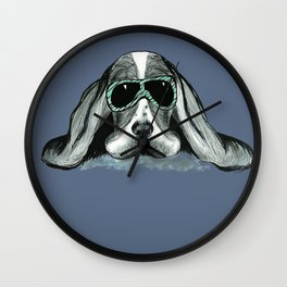 Cool Basset Hound Wall Clock