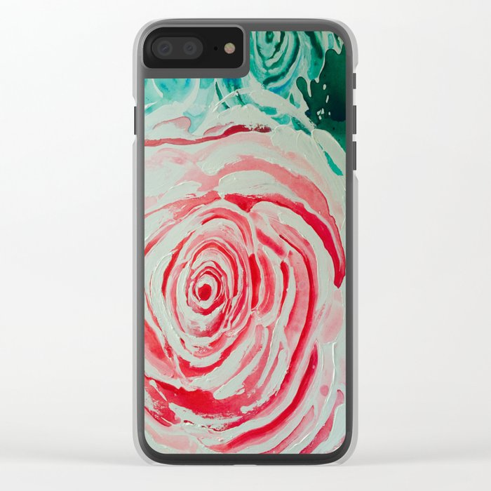 Where the Pink Roses Grow, Summer is Ending and Romantic Fall Nights are Here Clear iPhone Case
