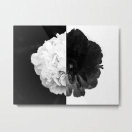 Half and Half Metal Print